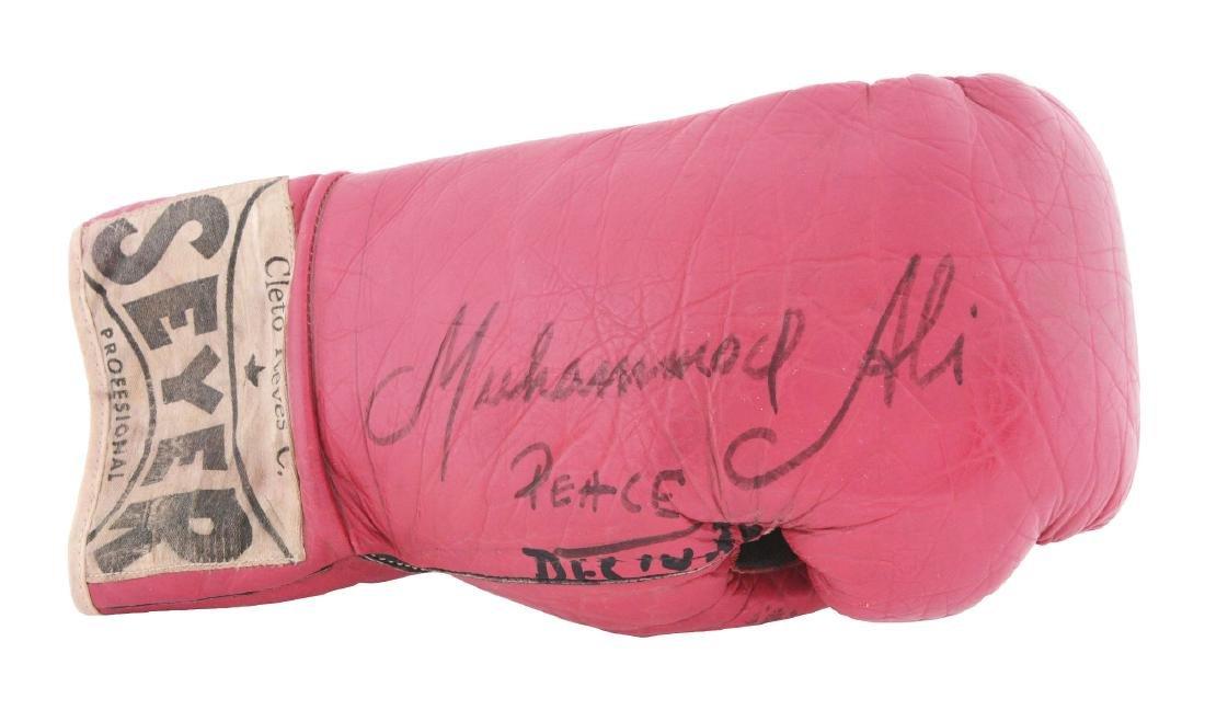 Muhammad Ali Signed Glove Rare Signature Style.