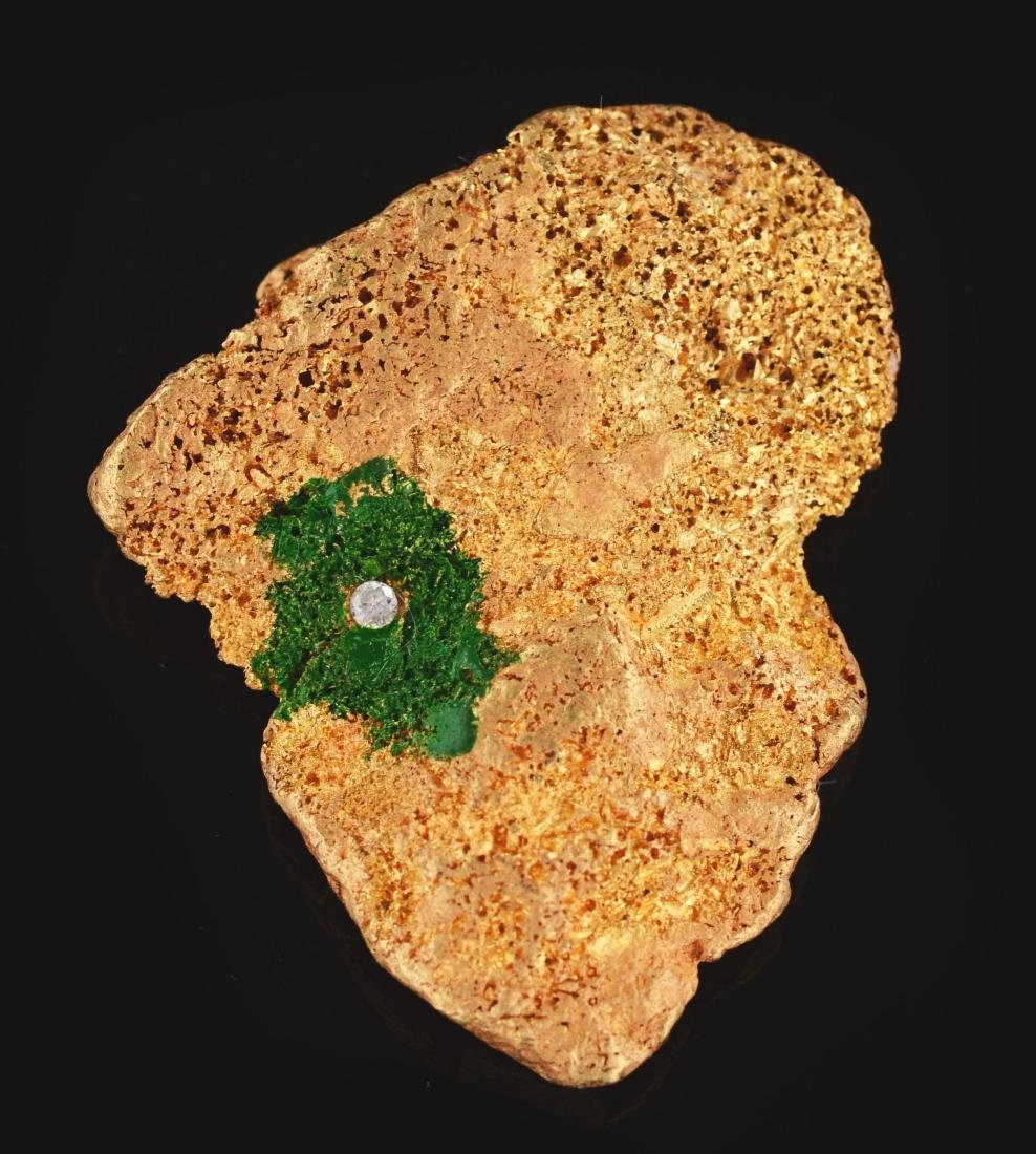 Africa Shaped Gold Nugget Presented To Muhammad Ali in