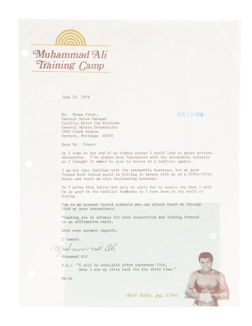 Muhammad Ali Signed Letter with Prophecy.
