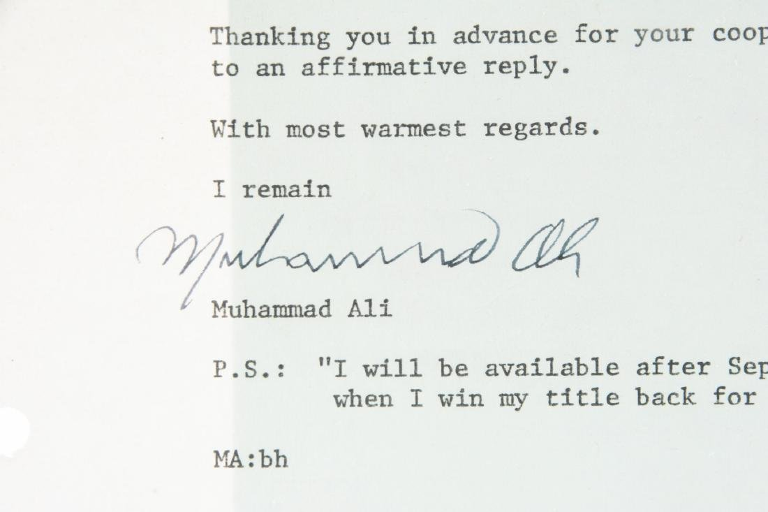 Muhammad Ali Signed Letter with Prophecy. - 2