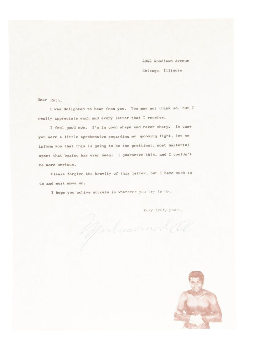 1970's Muhammad Ali Signed Letter.