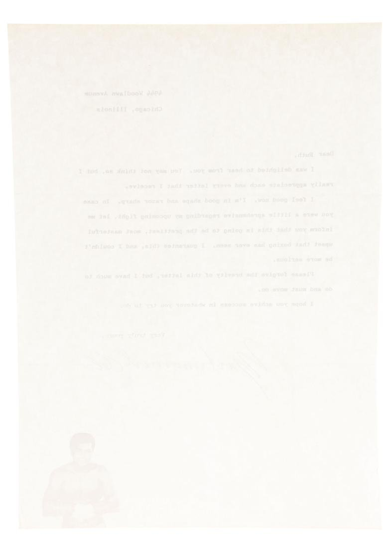1970's Muhammad Ali Signed Letter. - 3