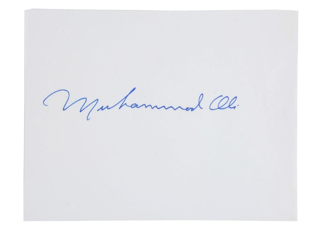 Huge Muhammad Ali Signature.