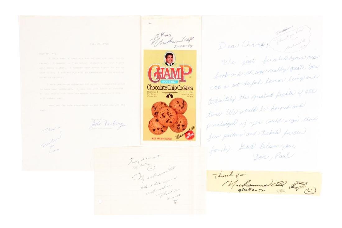 Lot of 5: Muhammad Ali Autographs.