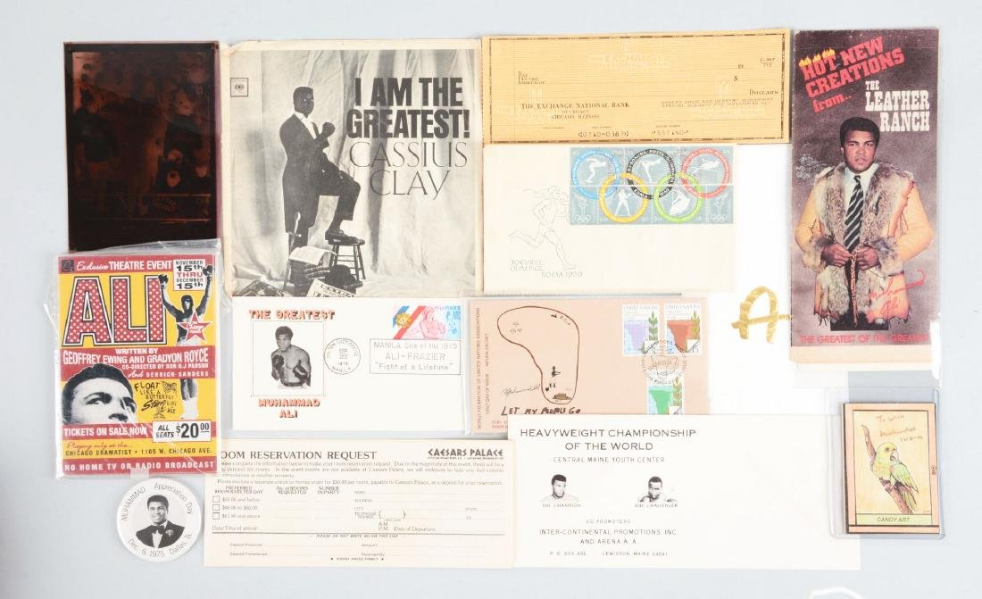 Lot of Vintage and Comtempory Muhammad Ali Items.