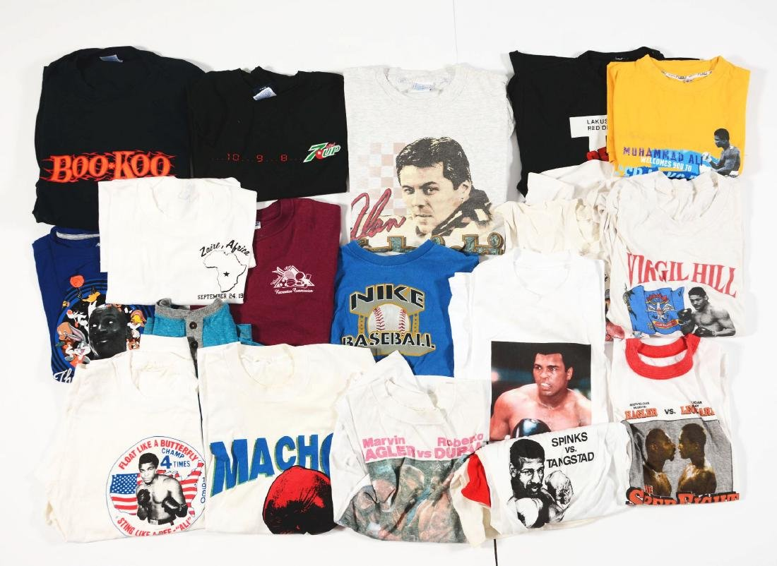Lot of Vintage and Contemporary Boxing Shirts and