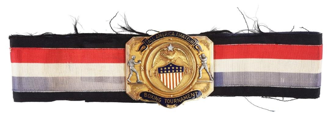 1936 ALL American Amatuer Boxing Tournament Belt.