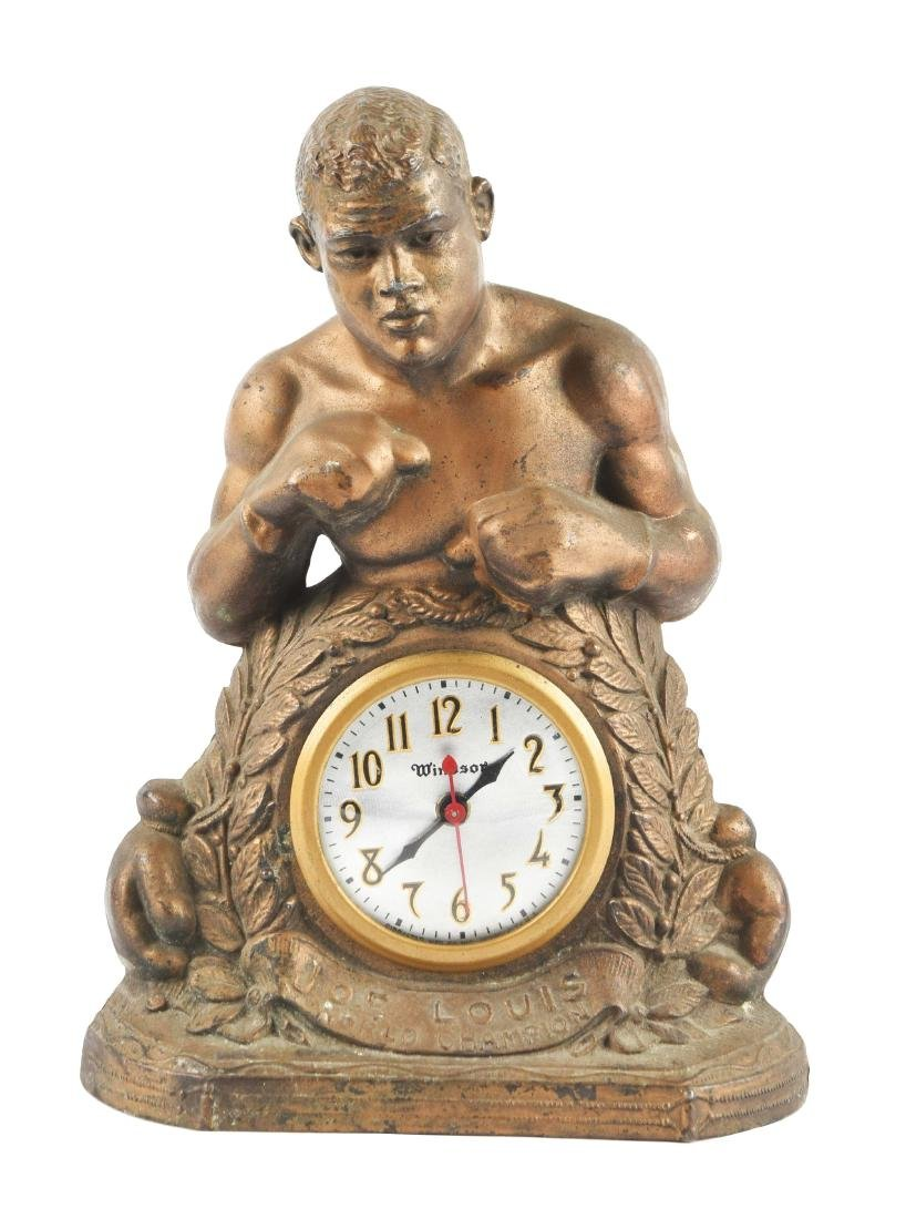 Vintage Pre-War Joe Louis World Champion Clock.