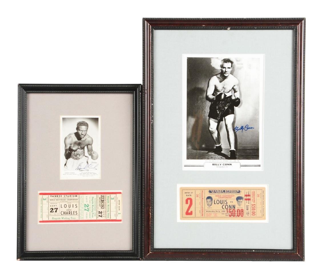 Lot of 2: Vintage Joe Louis Boxing Memorabilia.