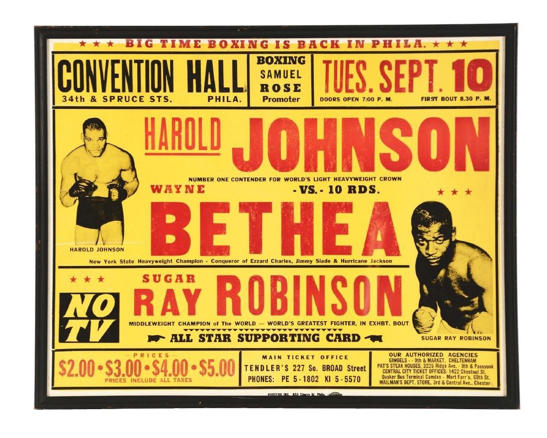 Sugar Ray Robinson Boxing Poster Sept 10, 1957