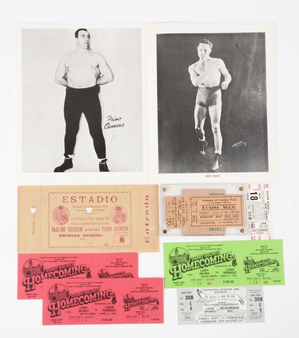 Lot of 10: Boxing Photo & Ticket Memorabilia.