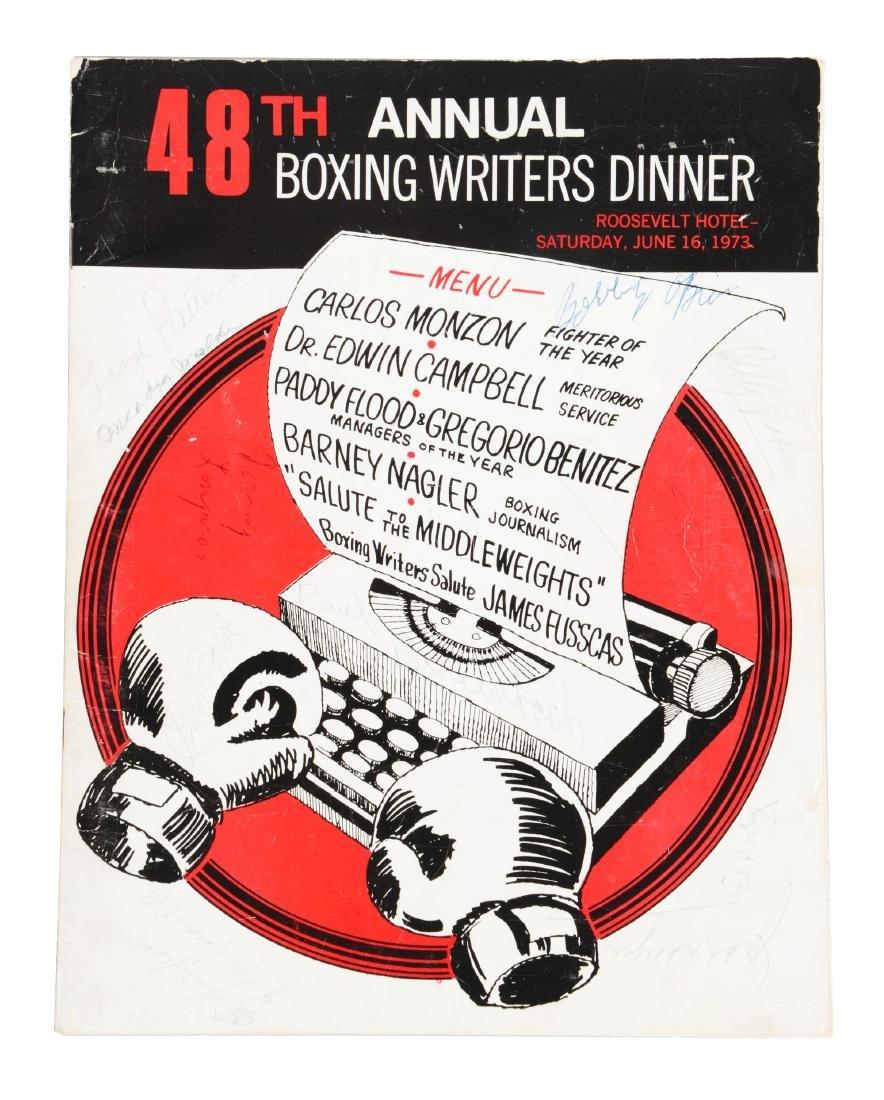 Jack Dempsey, Muhammad Ali & Others Signed 1973 Boxing