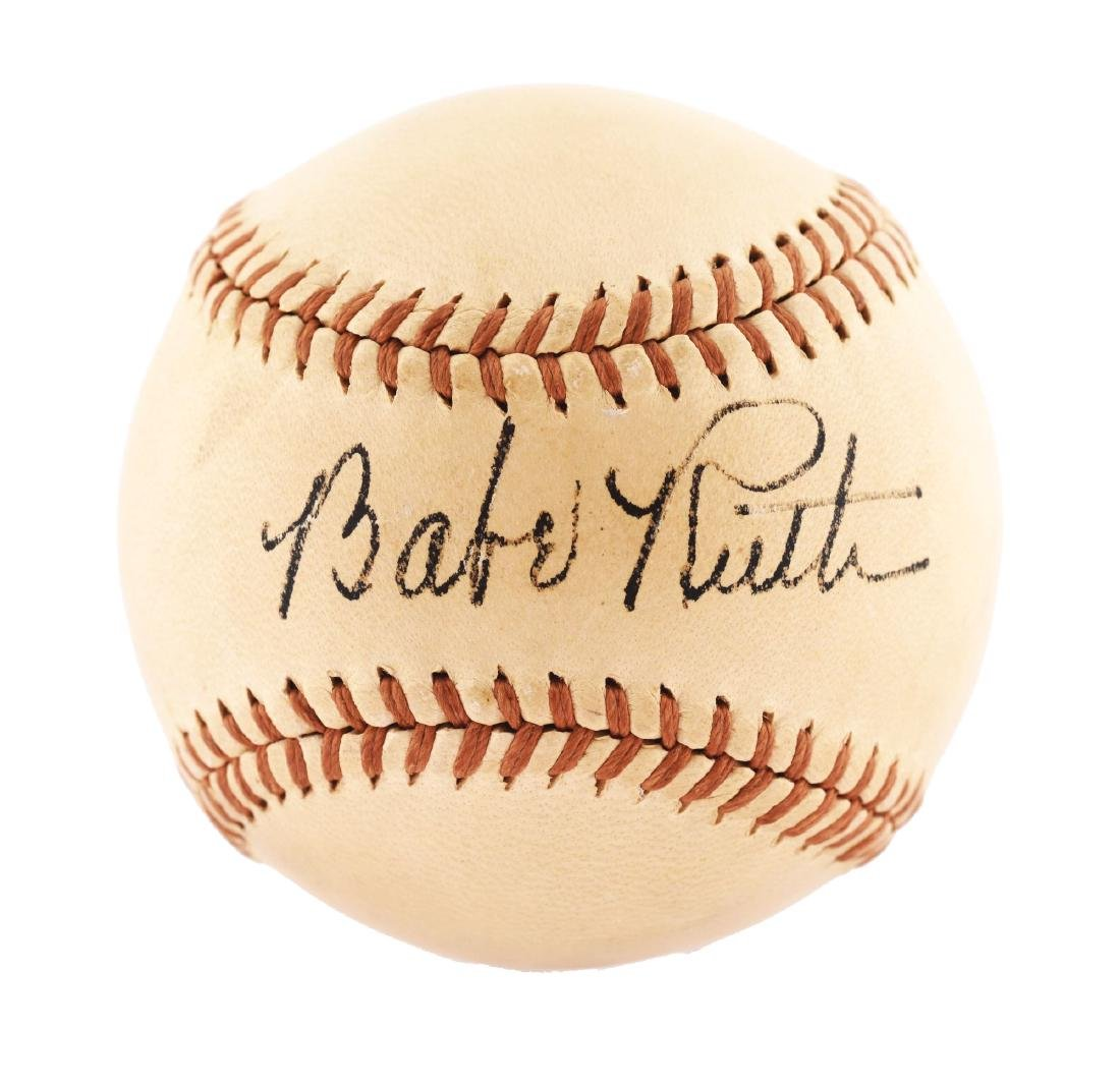 Spectacular Babe Ruth Single Signed Baseball PSA/DNA