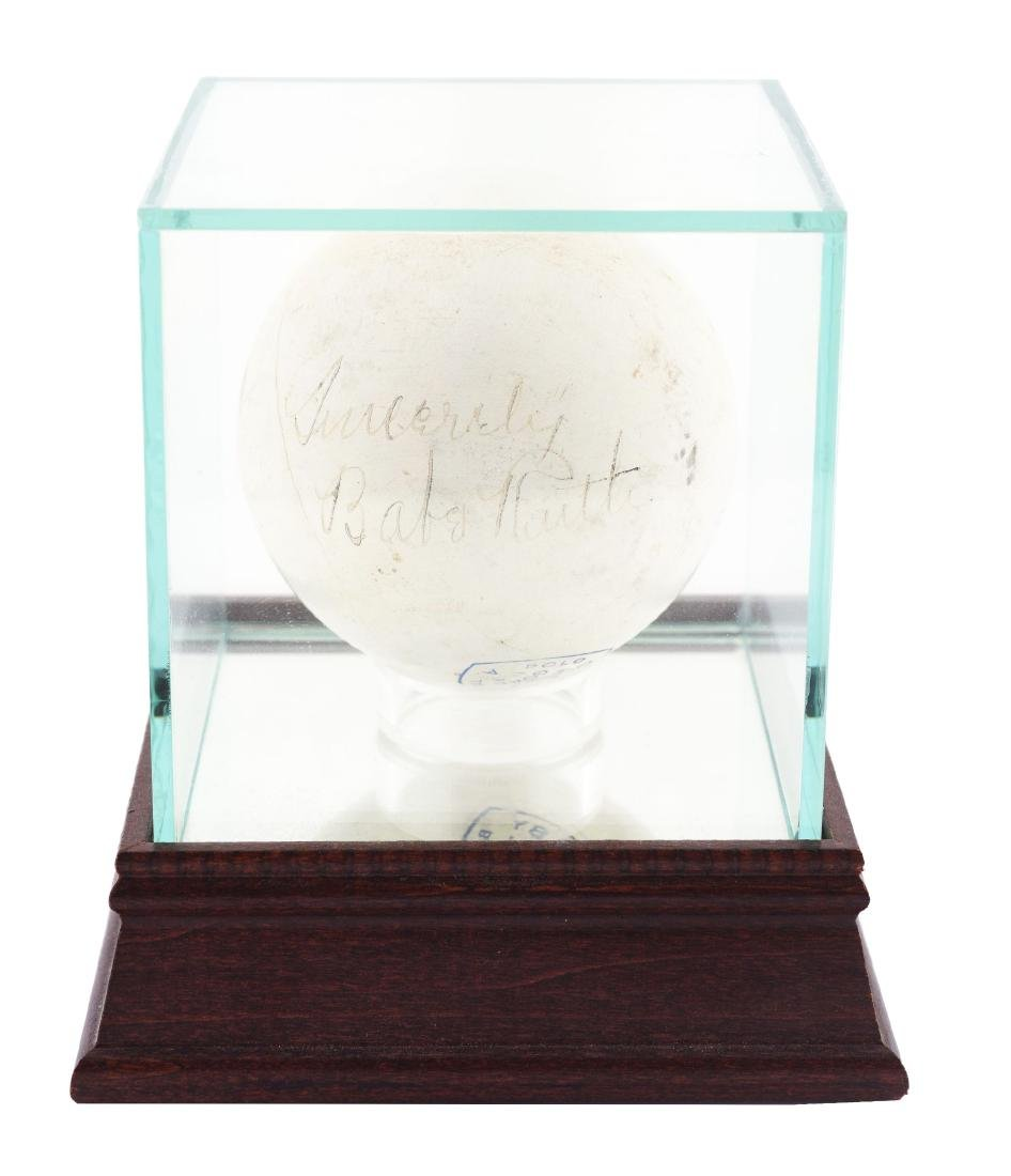 1930's Babe Ruth Black Fountain Pen Signed Polo Ball.