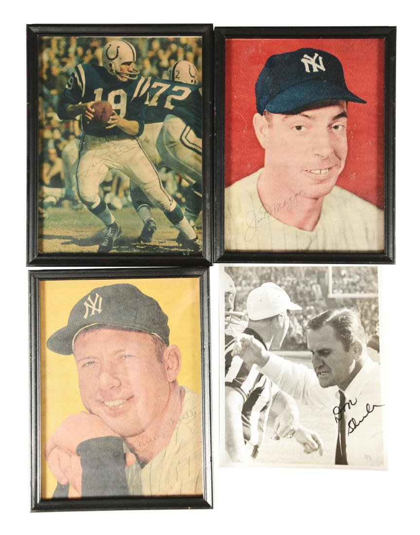 Baseball and Football Autograph Collection Mantle,