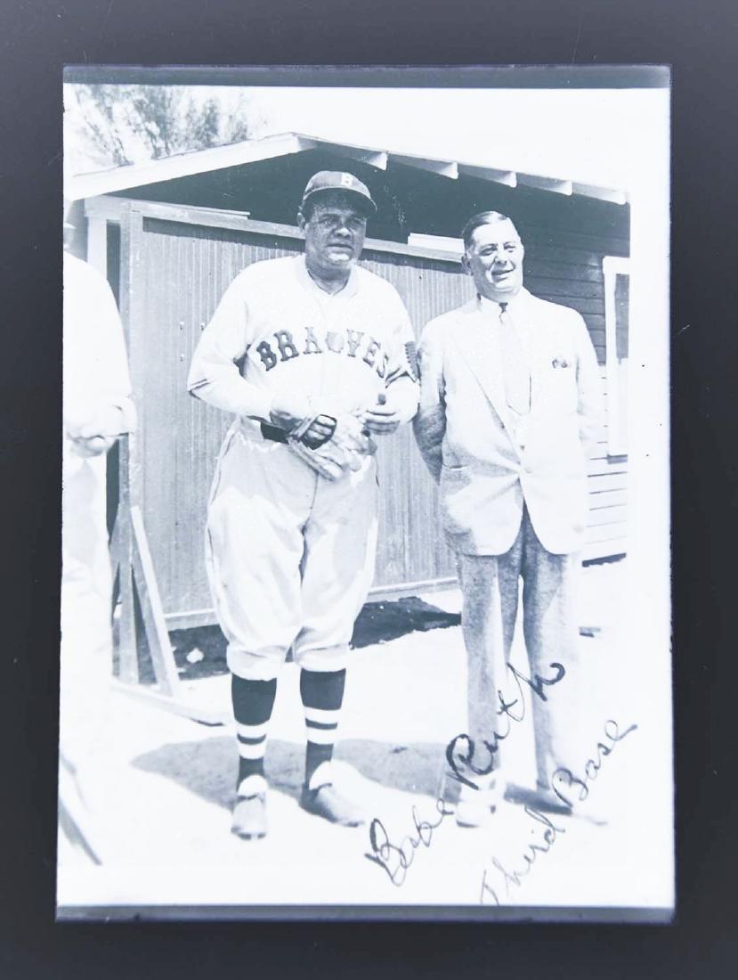 Babe Ruth 1935 Boston Braves Glass Negative. - 2