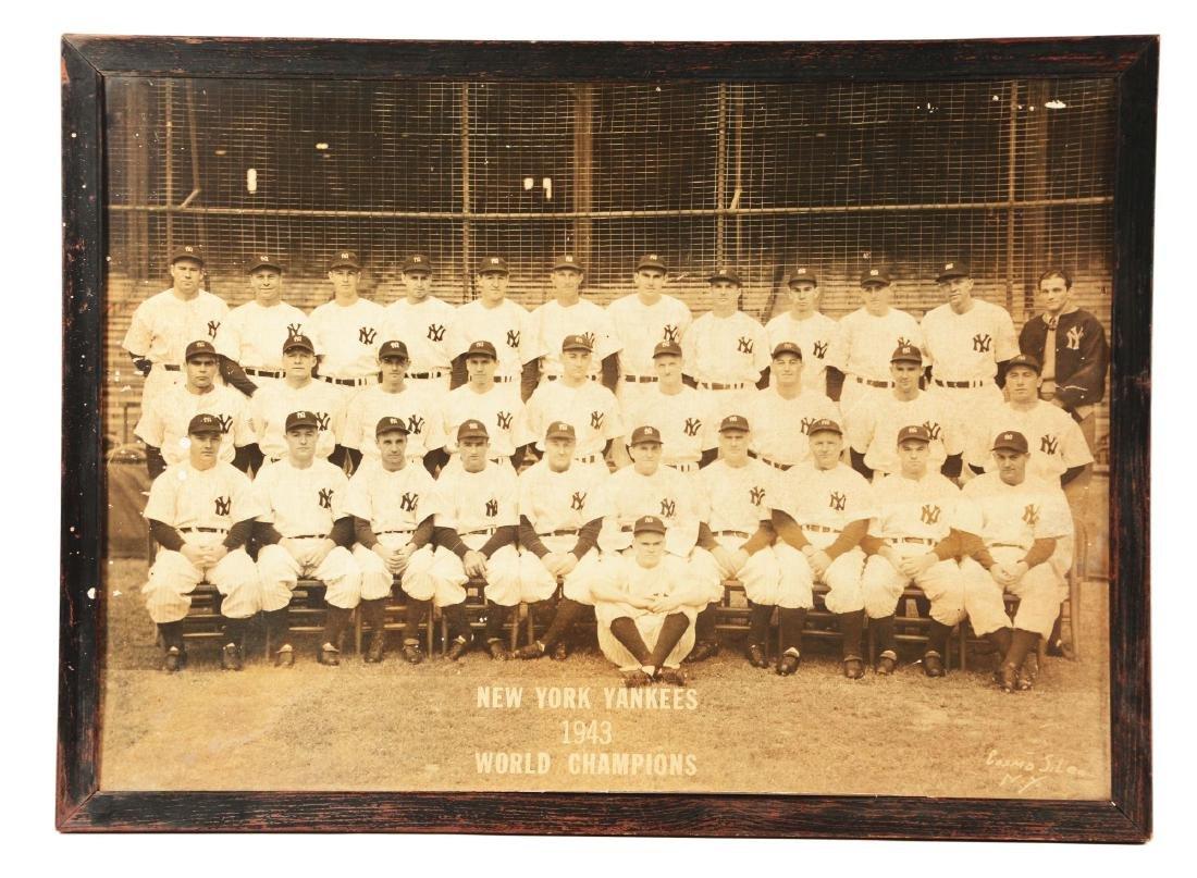 1943 World Champion New York Yankee Large Format Team