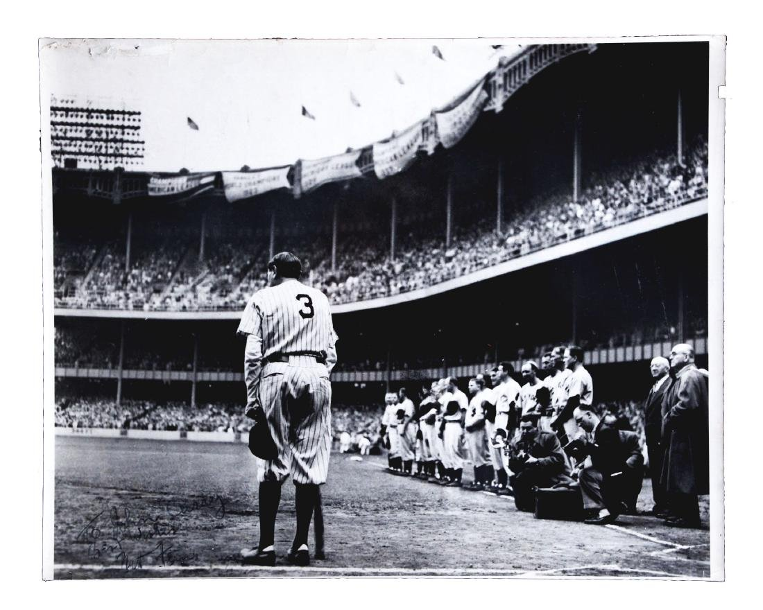 Large Format 1950's Babe Ruth Bows Out Photograph by