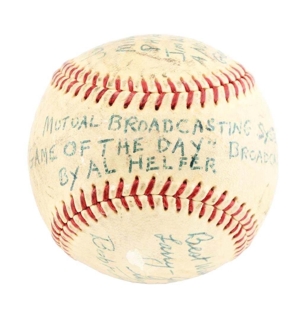 Game Used Baseball From The First No-Hitter in
