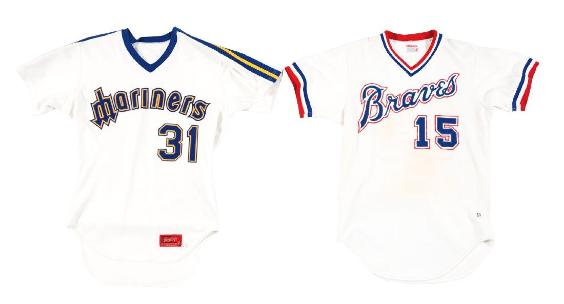 Lot of 4: Game Used Baseball Jerseys Including Braves,