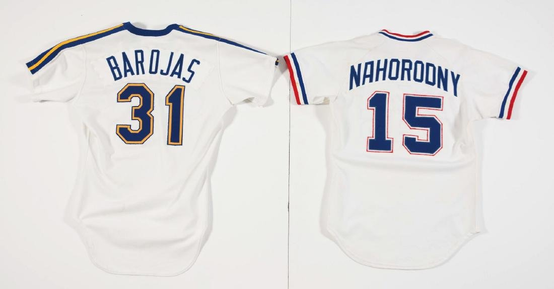 Lot of 4: Game Used Baseball Jerseys Including Braves, - 3