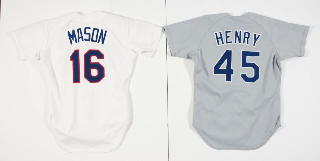 Lot of 4: Game Used Baseball Jerseys Including Braves, - 4