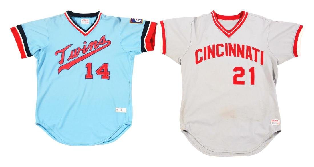 Lot of 4: Game Used Baseball Jerseys Including Reds &