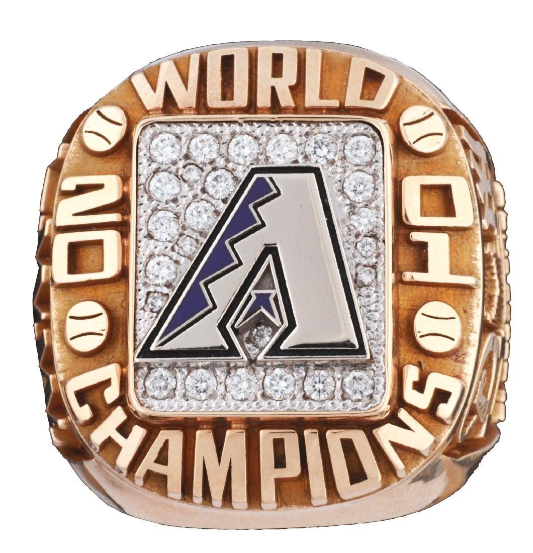 2001 Arizona Diamondbacks World Series Ring.