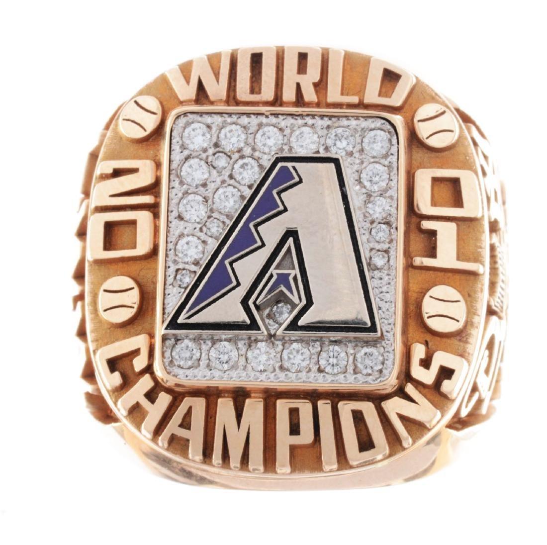2001 Arizona Diamondbacks World Series Ring. - 4