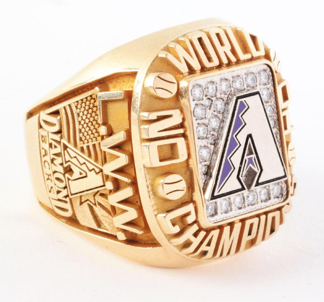 2001 Arizona Diamondbacks World Series Ring. - 5