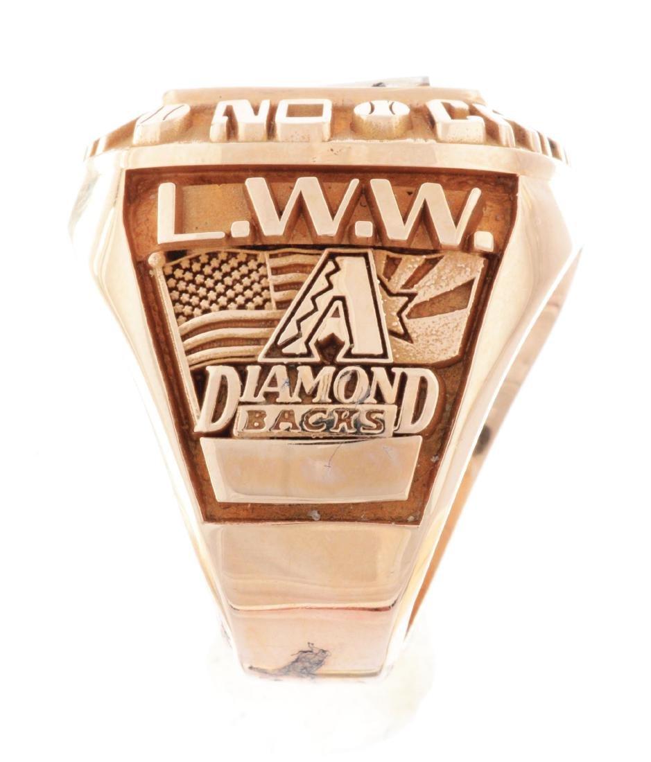 2001 Arizona Diamondbacks World Series Ring. - 6