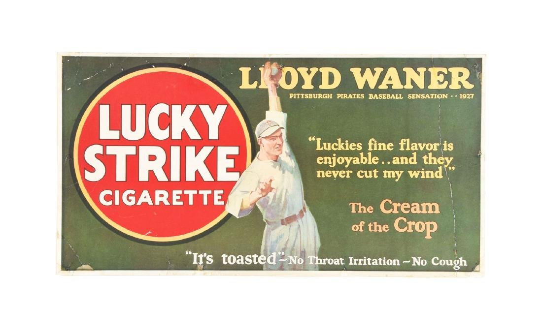 1920's Lloyd Waner Lucky Strike Cigarette Advertising