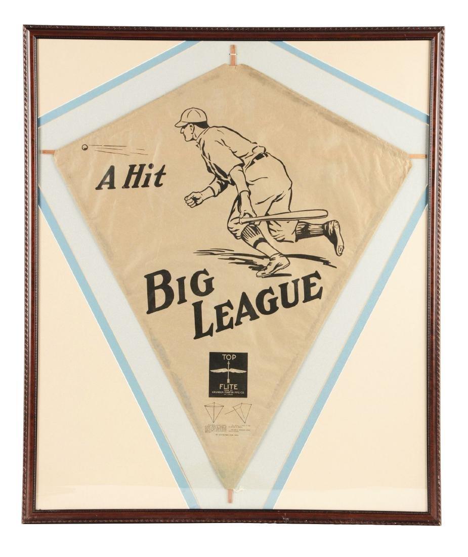Pre-War Big League Baseball Kite.