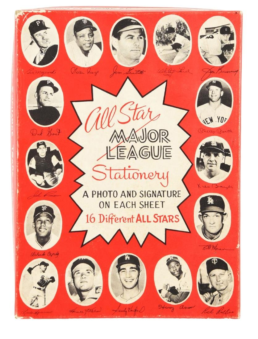 Early 1960's All Star Major League Stationery In