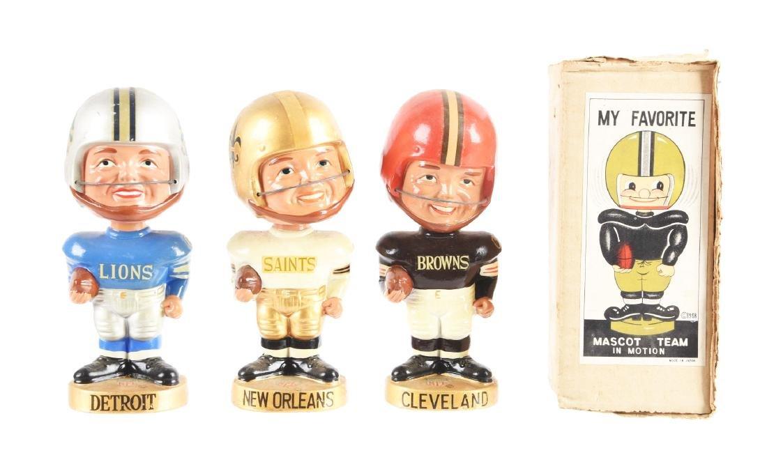 Lot Of 3: 1960's NFL Manface Nodders.