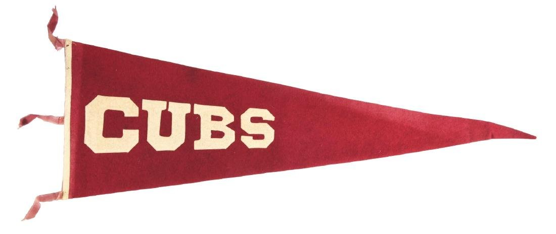 1910's Sewn on Letters Cubs Pennant.