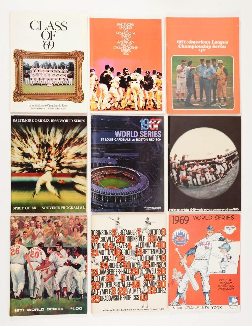 Lot of 20+: 1960-70's World Series & Championship