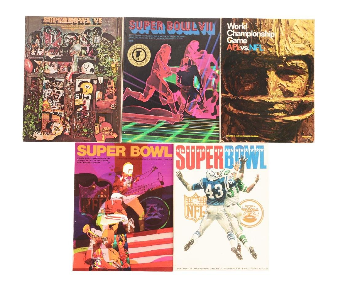 Lot Of 5: Early NFL Championship and Super Bowl