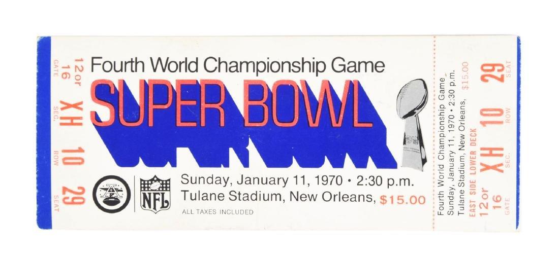 1970 Super Bowl IV Full Ticket Blue Variation Kansas