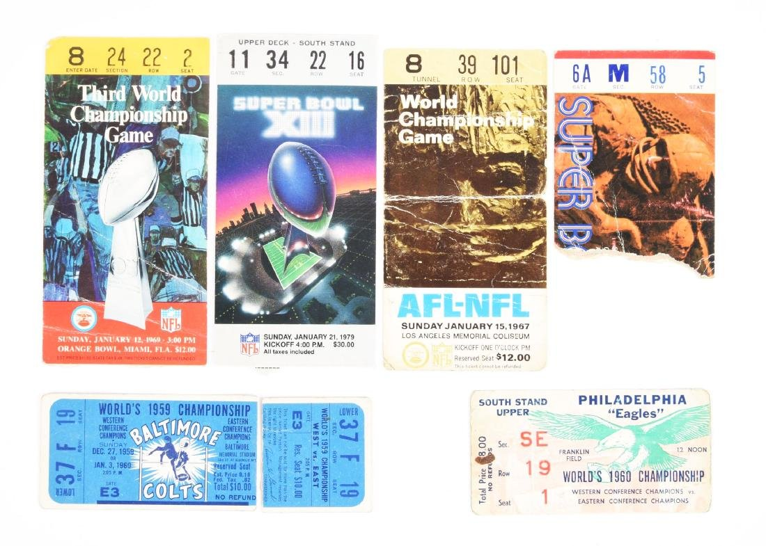 Super Bowl & Championship Game Ticket Stub Collection.