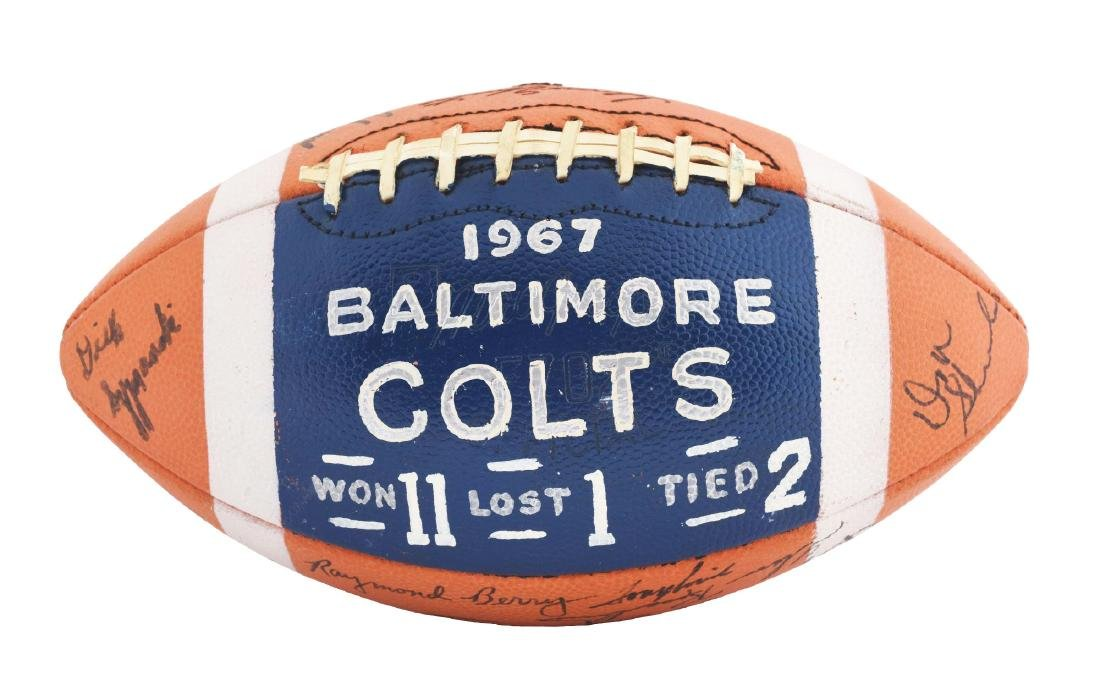 1967 Baltimore Colts Team Signed Ball.