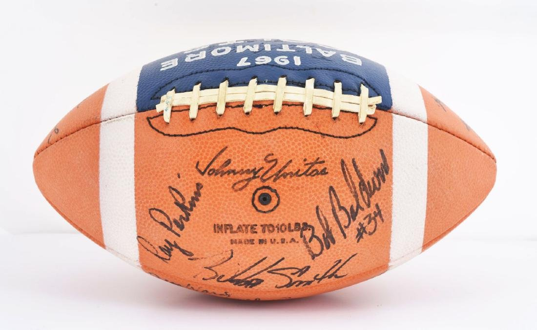 1967 Baltimore Colts Team Signed Ball. - 4