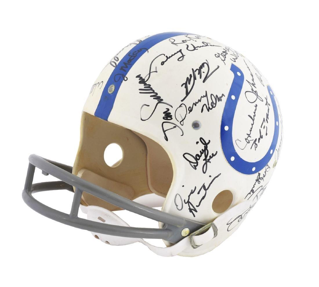 Baltimore Colts Signed Football Helmet Including Unitas