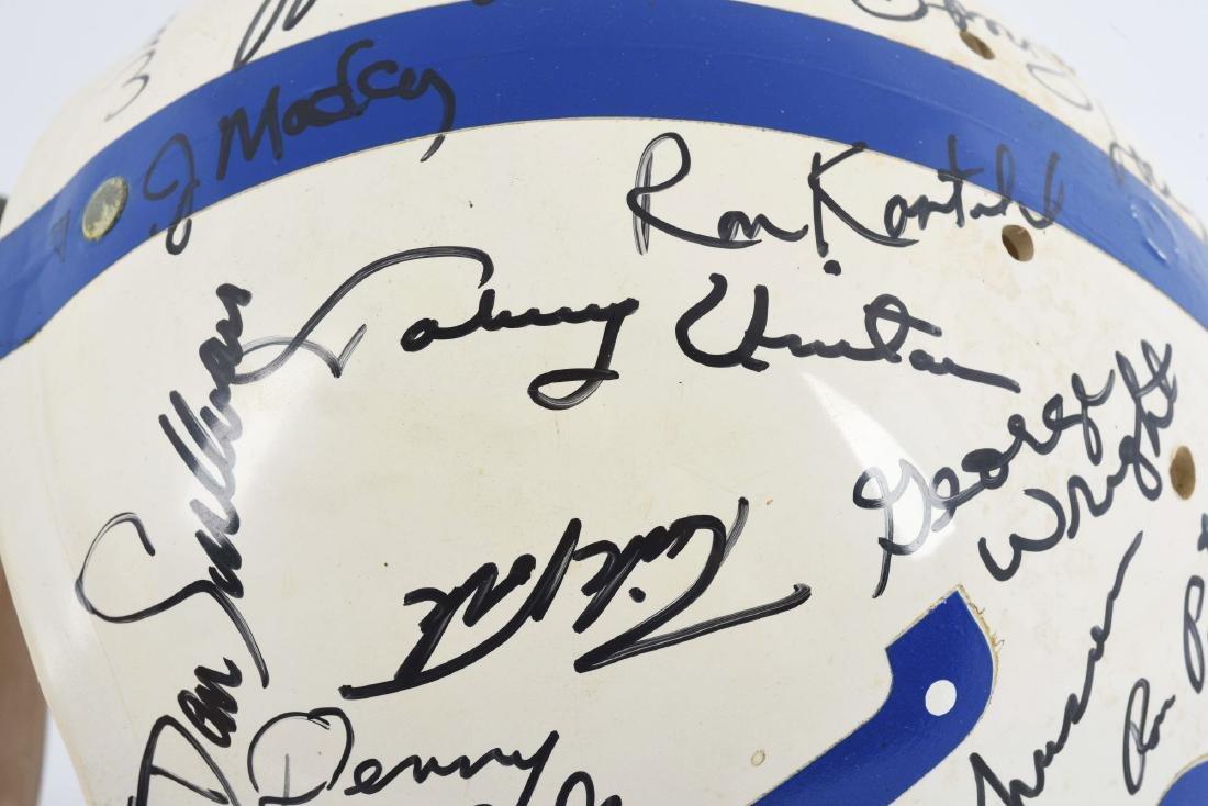 Baltimore Colts Signed Football Helmet Including Unitas - 2