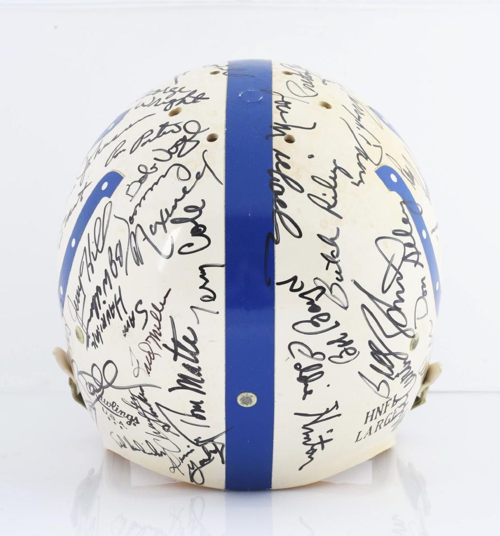 Baltimore Colts Signed Football Helmet Including Unitas - 4