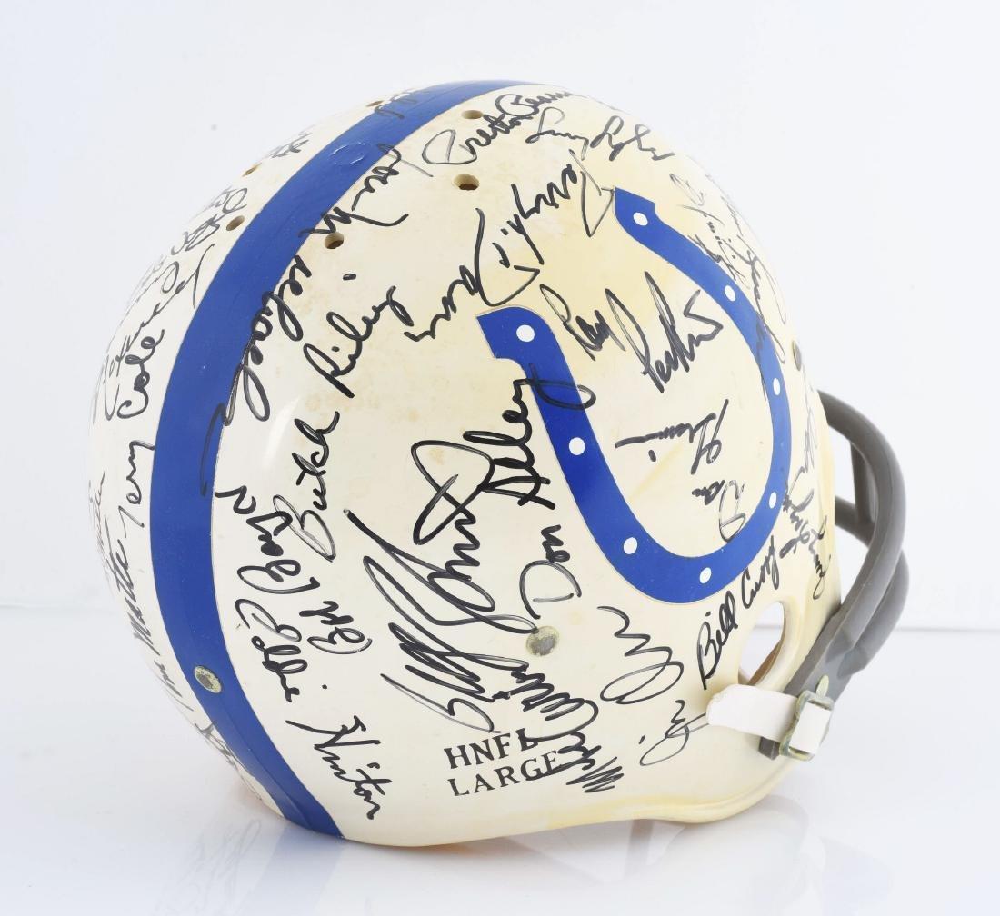 Baltimore Colts Signed Football Helmet Including Unitas - 5