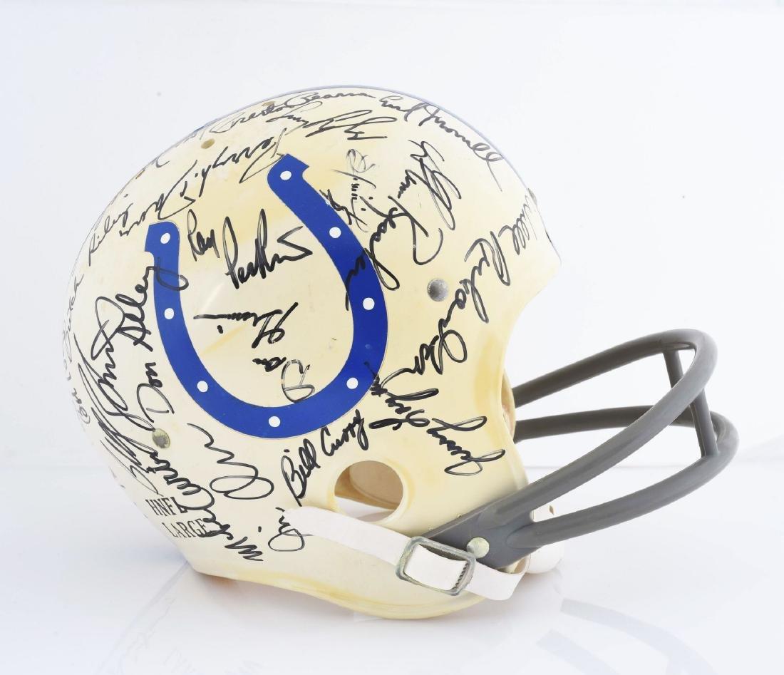 Baltimore Colts Signed Football Helmet Including Unitas - 6