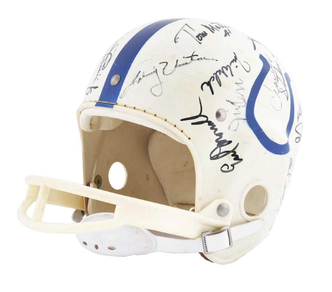 Colts Football Helmet Signed by 28 Players including