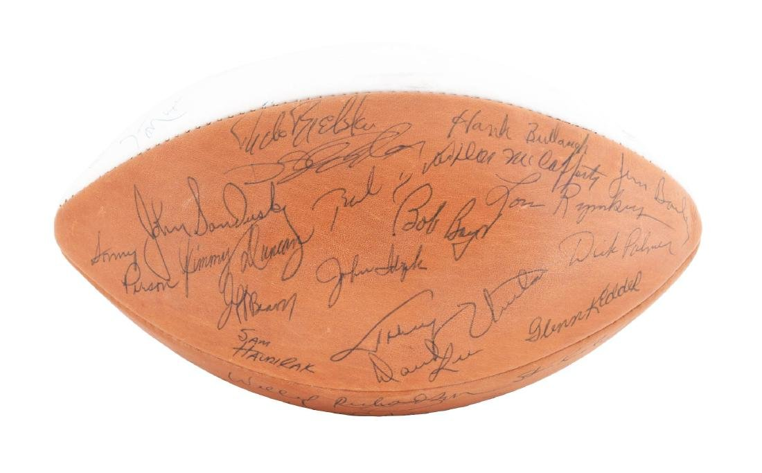 Late 1960's Baltimore Greats Signed Football.