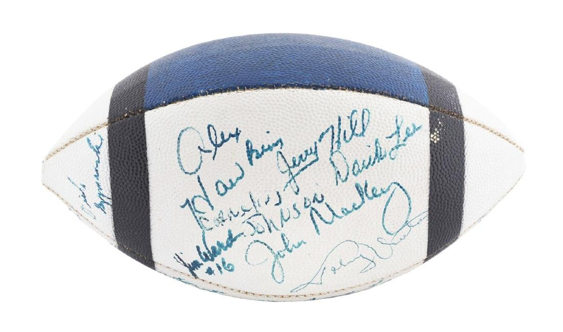 Vintage 1971 Baltimore Colts Team Signed Football.